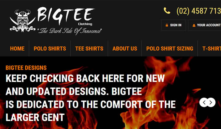 BigTee Clothing Website Launched