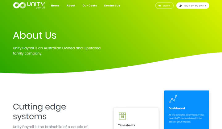 Unity Payroll Website Launched!