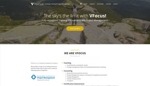 VFocus Website Redesign